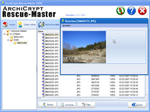 Click to view ArchiCrypt Rescue-Master 1.0.2 screenshot