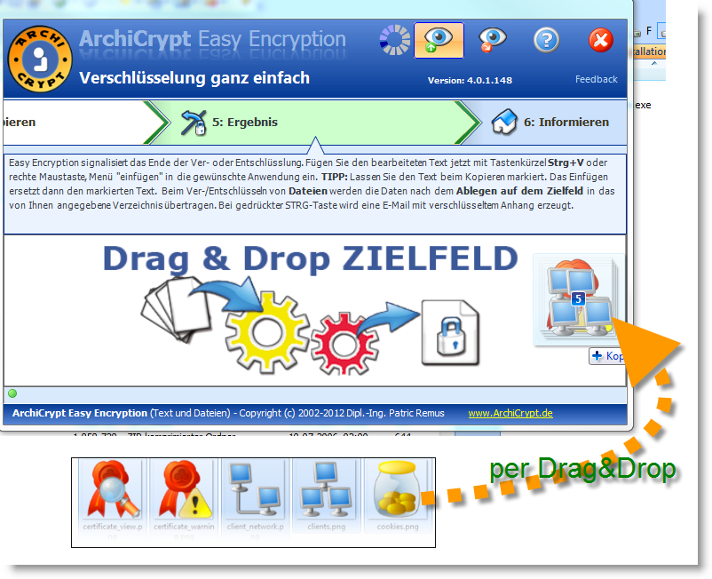 AchiCrypt Easy Encryption Drag Drop