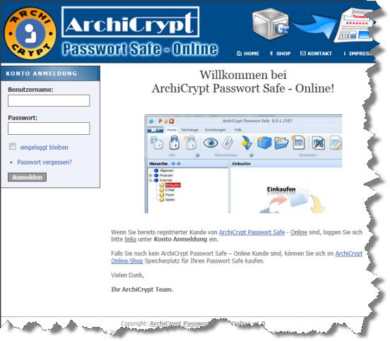 AchiCrypt Passwort Safe Online