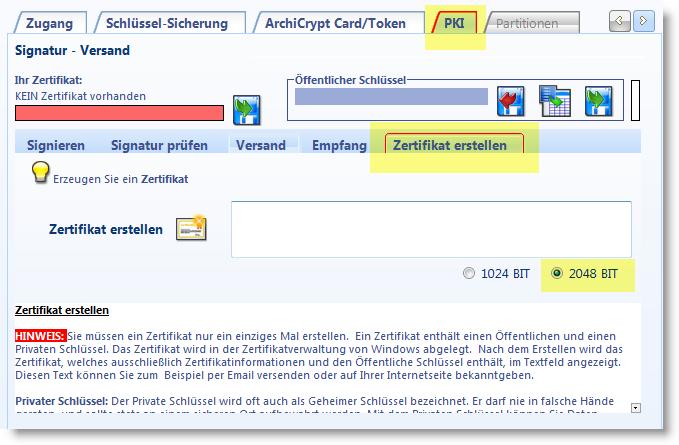 Erstellen Eines Digitalen Zertifikats