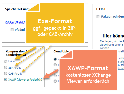 ArchiCrypt XChange Dateiformate