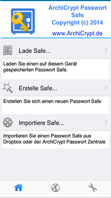AchiCrypt Safe auf iPhone 6