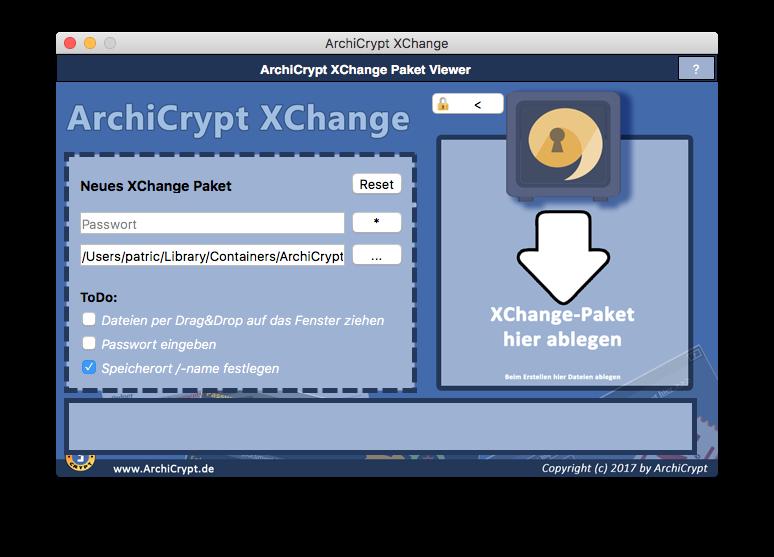 XChange Viewer Pro starten und Passwort eingeben