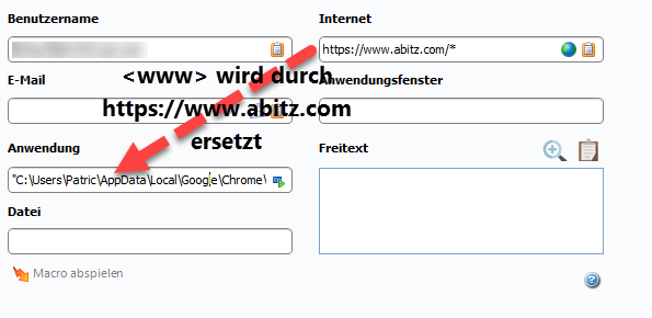 Browser mit Parameter starten