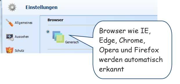 Generische Browsererkennung